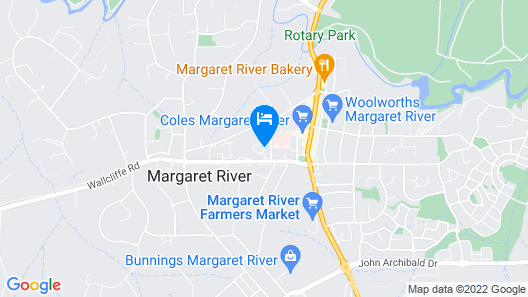 Grange on Farrelly Margaret River Motel Map