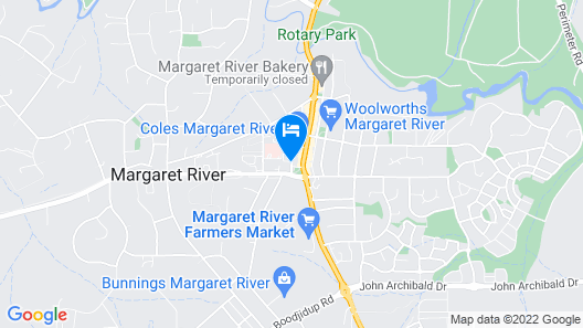 Prideau's of Margaret River Map