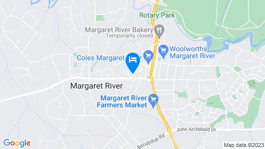 Margaret River Motel Map