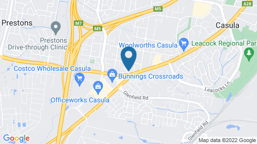 Best Western Casula Motor Inn Map