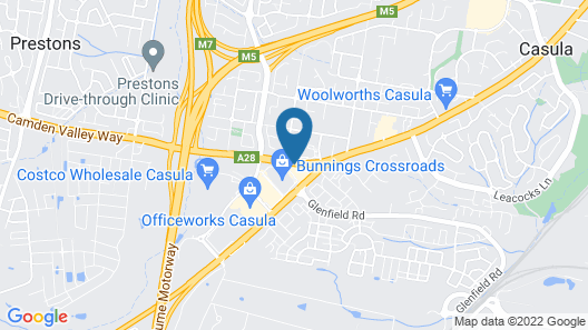 Crossroads Hotel Liverpool Map