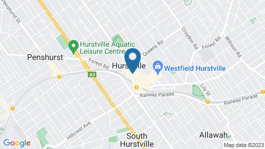 Hurstville Ritz Hotel Map
