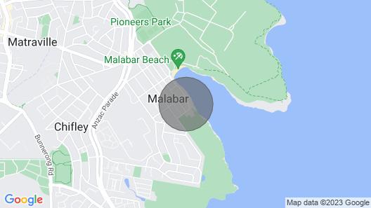 Malabar Bay Parade - Blissful Family Beach Retreat Map