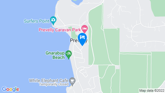 Margaret River Beach Studios Map