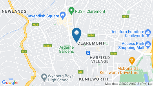 Cape Town City Accommodation – The Quadrant Map