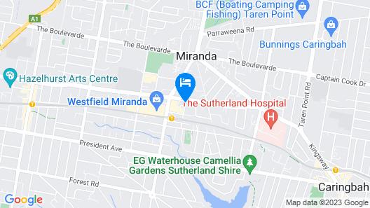 Metro Hotel Miranda Map