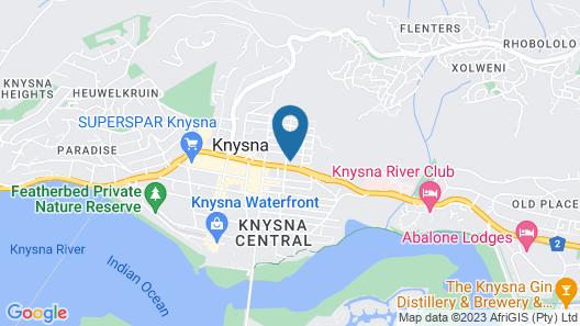 Conrad Pezula Resort Hotel and Spa Map