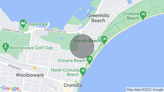 Cronulla - Block of 4 Individual Self-contained Units Near Beach and Golf Course Map