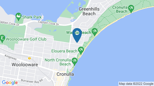 Cronulla Beach House Bed and Breakfast Map