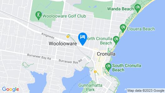 Cronulla Motor Inn Map