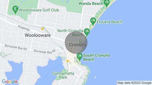 Studio Apartment Opposite North Cronulla Beach306B Map