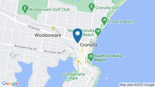 Cronulla Beach Backpackers Map