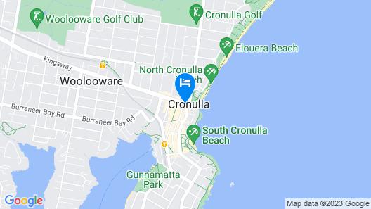 Rydges Cronulla Beachside Map