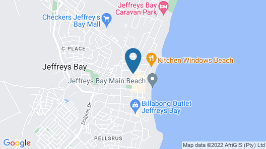 Jeffreys Bay Backpackers Map