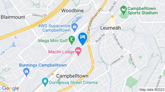 Campbelltown Colonial Motor Inn Map