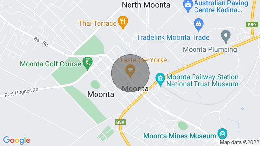 Pet Friendly Home in the Heart of Australias Little Cornwall, Moonta Map