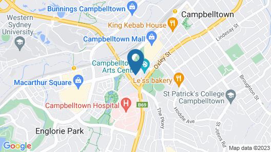 Rydges Campbelltown Map