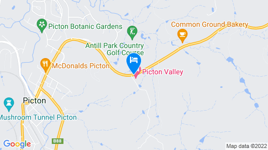 Picton Valley Motel Map