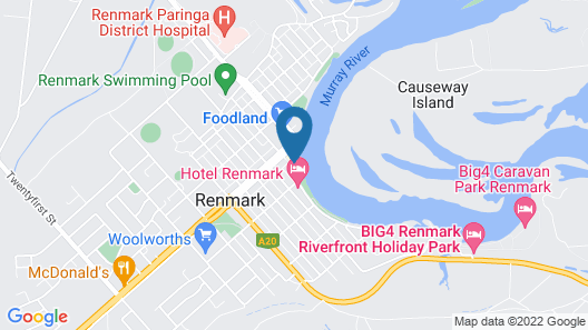Renmark Holiday Apartments Map