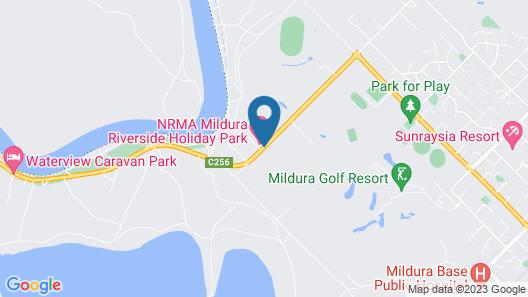 BIG4 NRMA Mildura Riverside Holiday Park Map