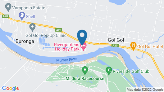 Rivergardens Holiday Park Map
