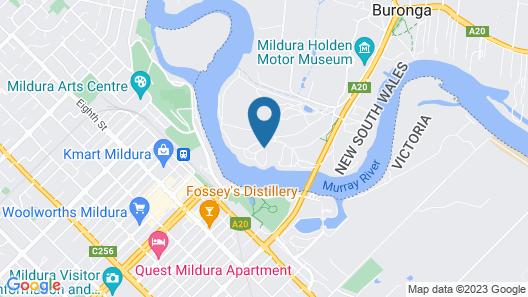 Discovery Parks - Mildura, Buronga Riverside Map