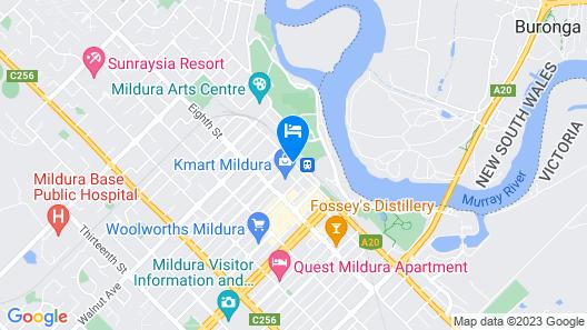 Seven Pines Motor Inn Map