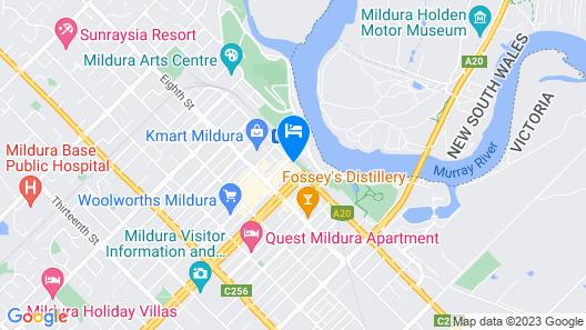 Quality Hotel Mildura Grand Map