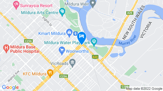 Commodore Motel Mildura Map