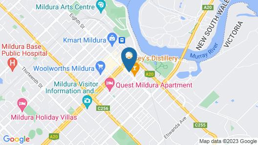 Mercure Hotel Mildura Map