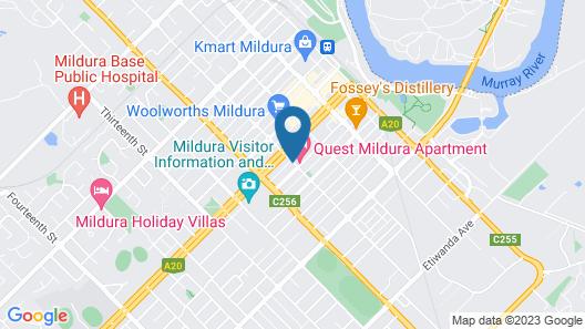 Central Motel Mildura Map