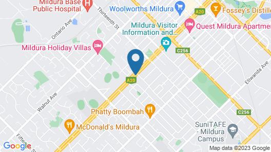 Best Western Chaffey International Motor Inn Map