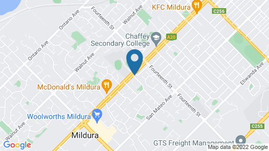 Cottonwood Motor Inn Mildura Map