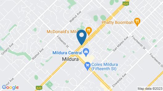 Econo Lodge Mildura Map