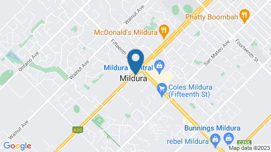 BIG4 Mildura Getaway Map