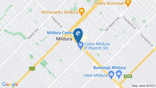 Aquarius Apartments and Cabins Map