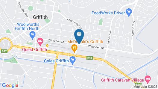 A-line Motel Map
