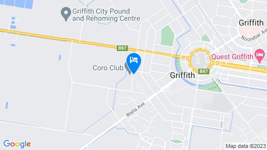 Coro Club Motel Map