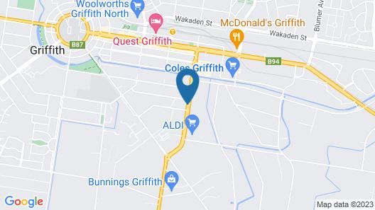 Acacia Motel Griffith Map