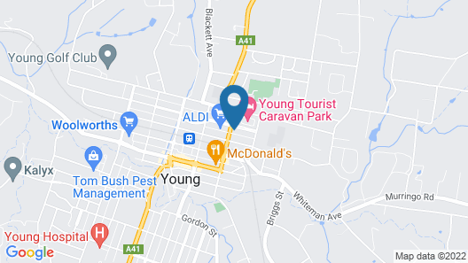 Colonial Motel and Serviced Apartments Map