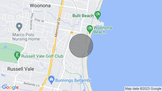East Woonona Beach Sea-esta Apartment Map