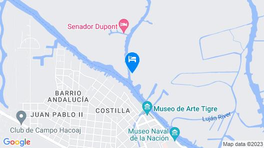 Cabañas Burdeos Map