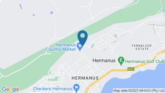 Hermanus Lodge on the green Map