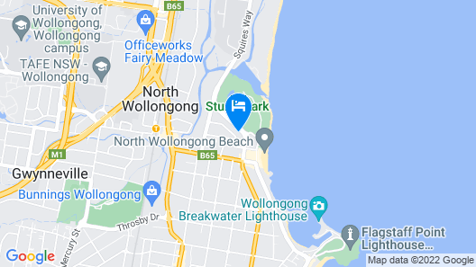 Beach Park Motel Map