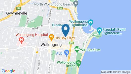 Wollongong Serviced Apartments Map