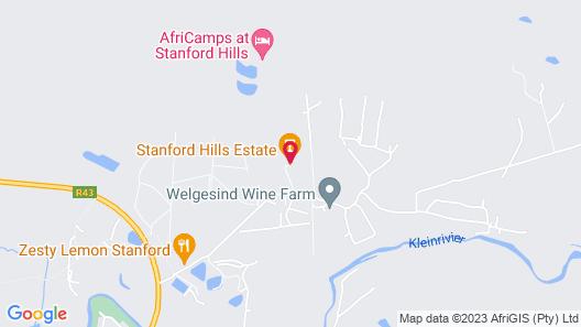 AfriCamps at Stanford Hills Estate Map