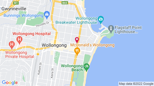 Adina Apartment Hotel Wollongong Map