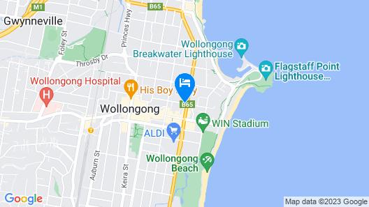 Adina Apartment Hotel Wollongong Map