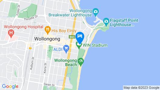 City Beach Motel Map