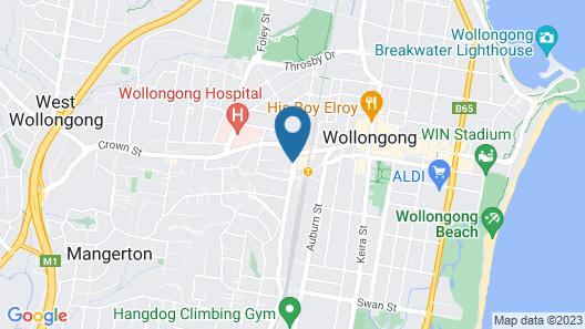 Mantra Wollongong Map